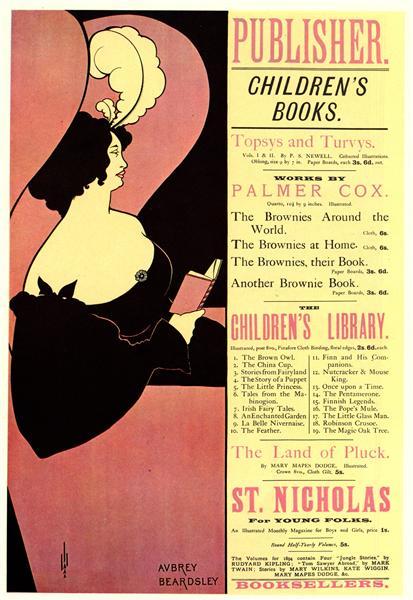 Advertisement for Children's Books, 1894 - Aubrey Beardsley