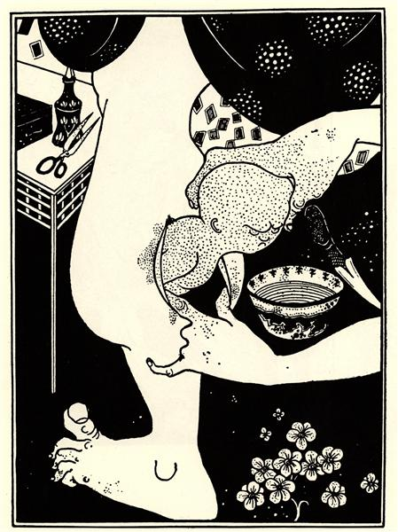 Birth from the Calf of the Leg, 1894 - Aubrey Beardsley