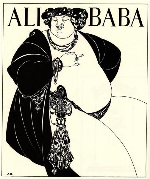 Cover Design for Ali Baba, 1897 - Aubrey Beardsley