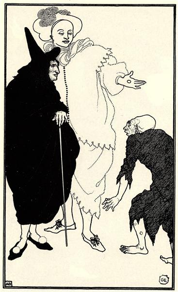 Don Juan, Sganarelle and the Beggar, 1896 - Aubrey Beardsley