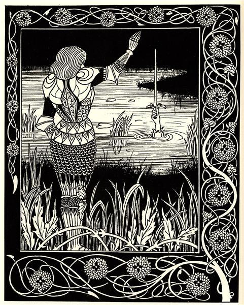 Excalibur in the Lake, 1893 - Aubrey Beardsley