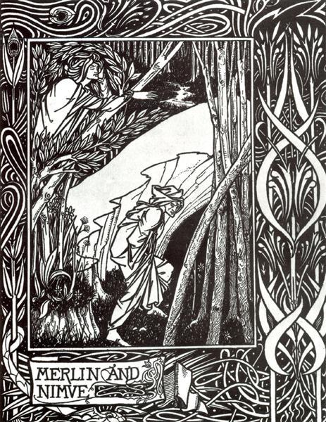 Merlin and Nimue, 1893 - 1894 - Aubrey Beardsley
