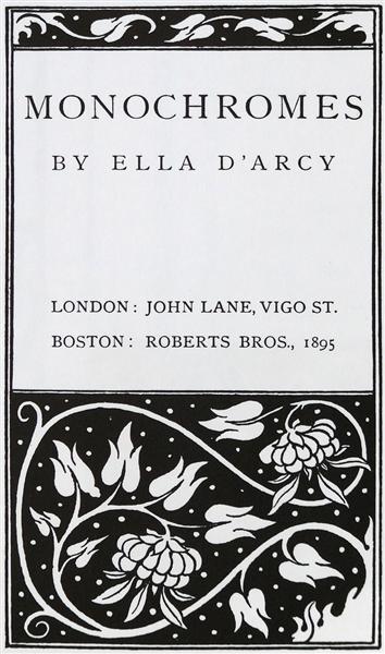 Monochuromes, 1895 - Aubrey Beardsley