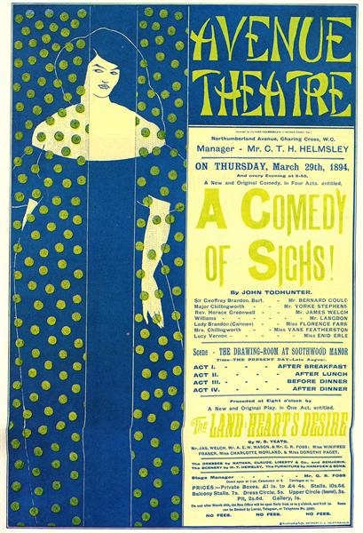 Poster advertising 'A Comedy of Sighs', a play by John Todhunter, 1894 - Aubrey Beardsley
