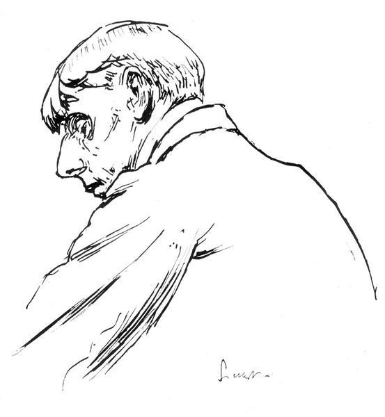 Self-portait, c.1894 - Aubrey Beardsley