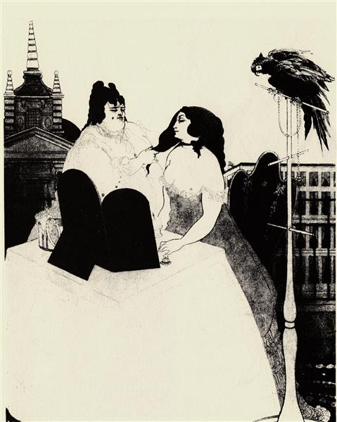 The Lady at the Dressing Table, c.1897 - Aubrey Beardsley