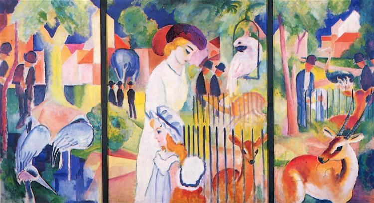 BigZoo, Triptych, 1913 - August Macke