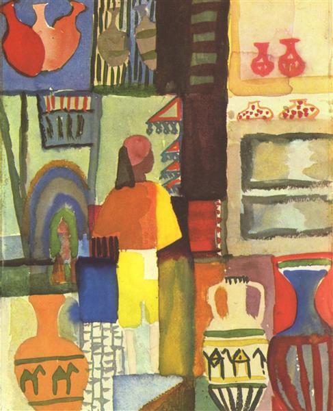 Dealer with jugs, 1914 - August Macke