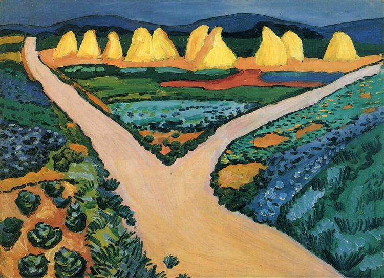 Image result for August Macke (Vegetable Fields, 1911, Kunstmuseum Bonn)