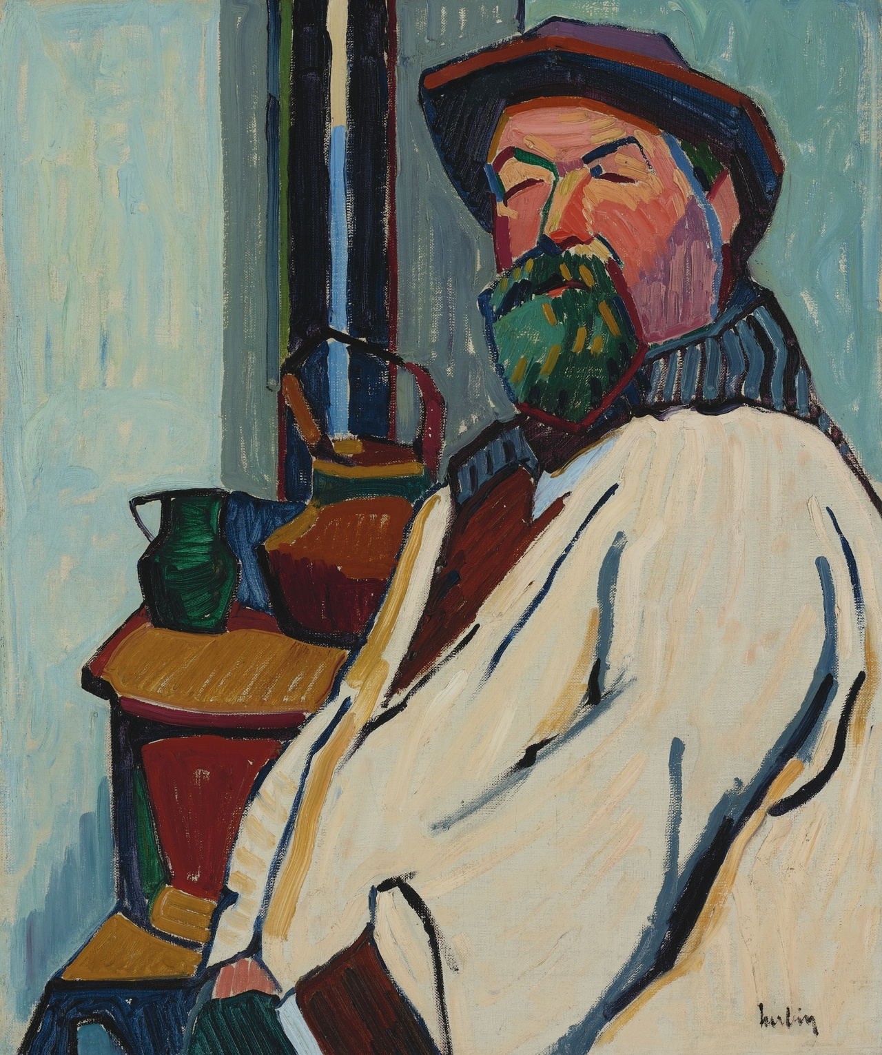 Portrait du peintre mathieu battaglia 1906 auguste for Auguste herbin
