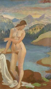 Bather in the Welsh Mountains - Огастес Эдвін Джон