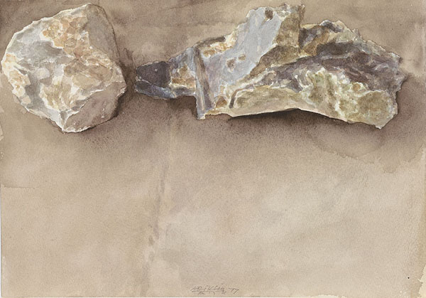 Two Stones, 1977 - Avigdor Arikha