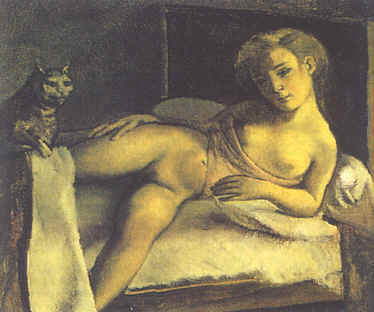 Girl on a Bed, c.1950 - Balthus