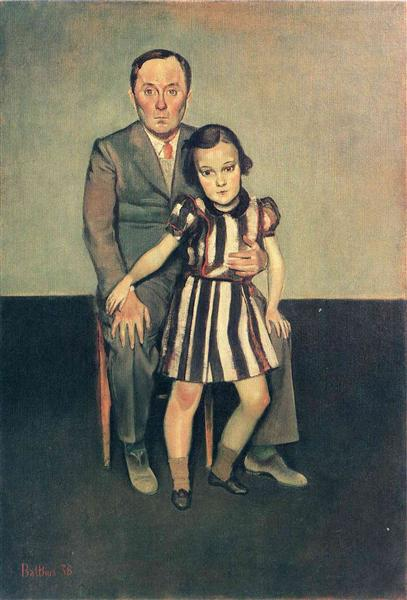 Joan Miro and his daughter Dolores, 1937 - Balthus