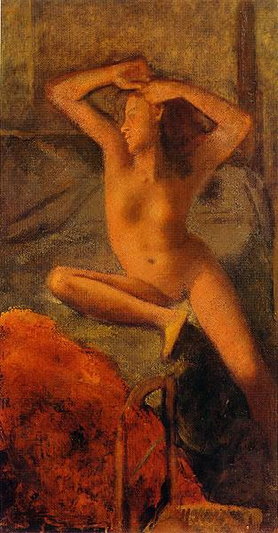 Nude with her arms raised, 1951 - Бальтюс