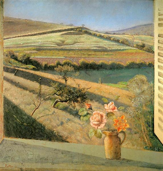 The bouquet of roses on the window, 1958 - Balthus