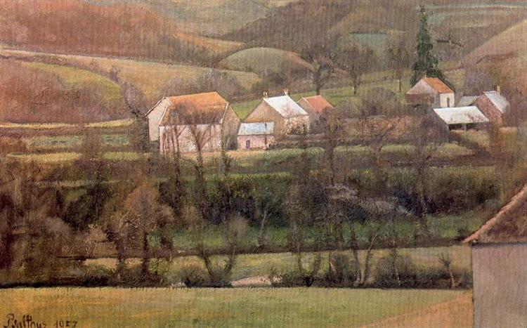 The Yonne Valley, 1957 - Balthus