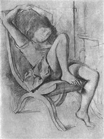 Young girl asleep - Бальтюс