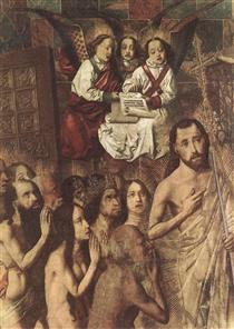 Christ Leading the Patriarchs to the Paradise (detail) - Bartolome Bermejo