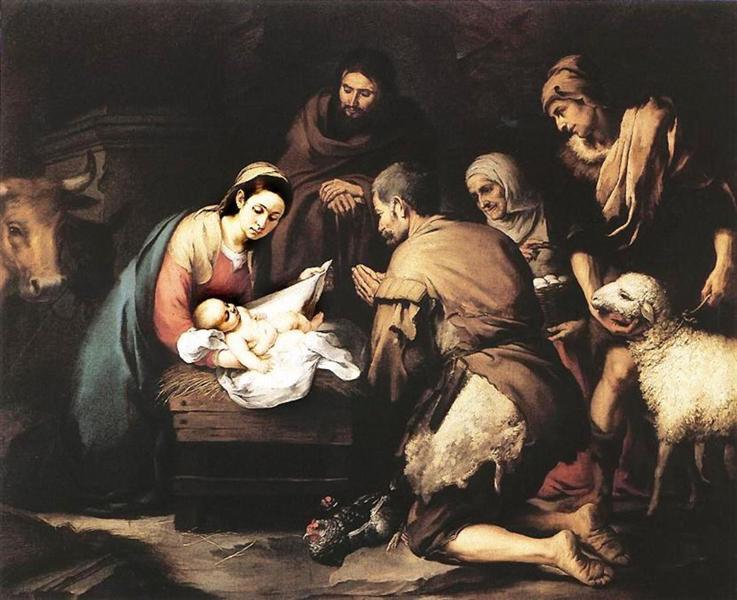 The Adoration of the Shepherds, c.1650 - Bartolome Esteban Murillo