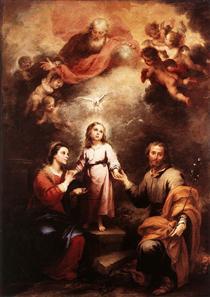 The Two Trinities - Bartolomé Esteban Murillo