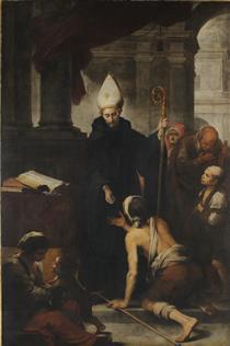 Thomas of Villanova giving alms to the poors - Bartolomé Esteban Murillo