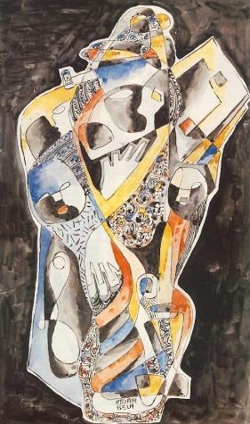Blue-yellow Composition, 1930 - Bela Kadar