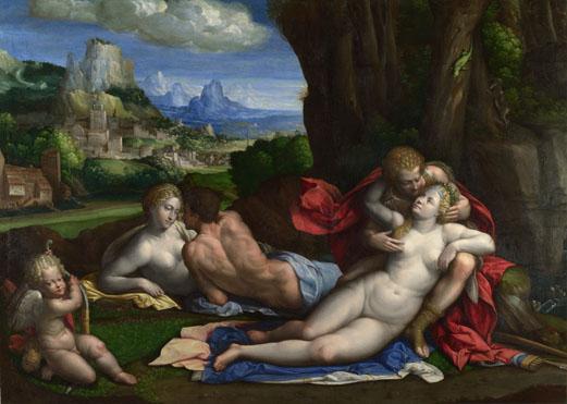 Una alegoría del amor - Benvenuto Tisi