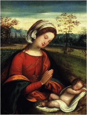 Madonna con Bambino - Benvenuto Tisi