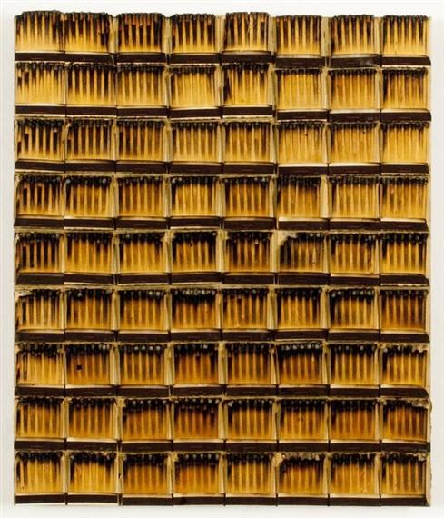 Bòites d'allumettes brùlès, 1974 - Bernard Aubertin