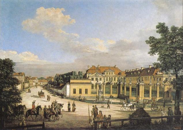 Mniszech Palace in Warsaw, 1779 - Bernardo Bellotto