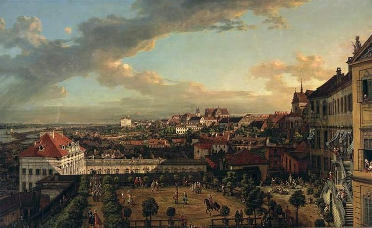View of Warsaw from the terrace of the Royal Castle, 1773 - Бернардо Беллотто