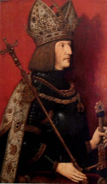 Portrait of Maximilian I (1459-1519), 1507 - 1508 - Bernhard Strigel