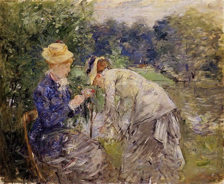 In the Bois de Boulogne, 1879 - Берта Моризо