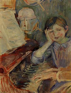 Julie Listening - Berthe Morisot
