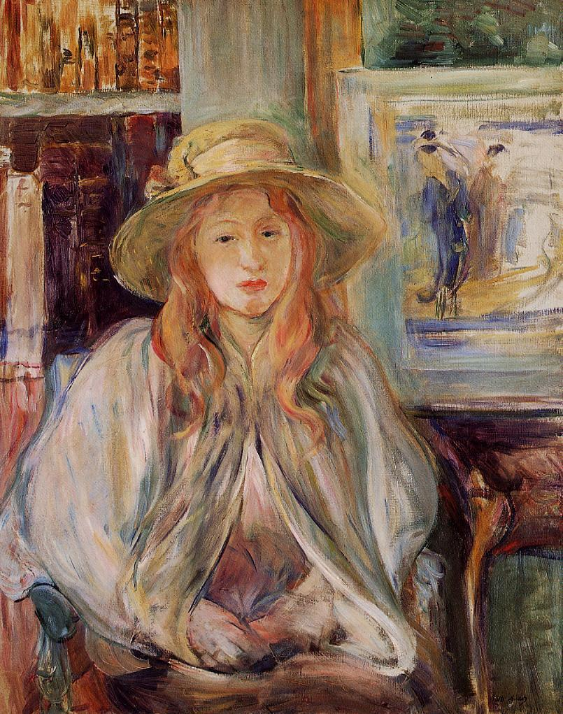 Julie Manet Paintings Julie Manet With a Straw Hat