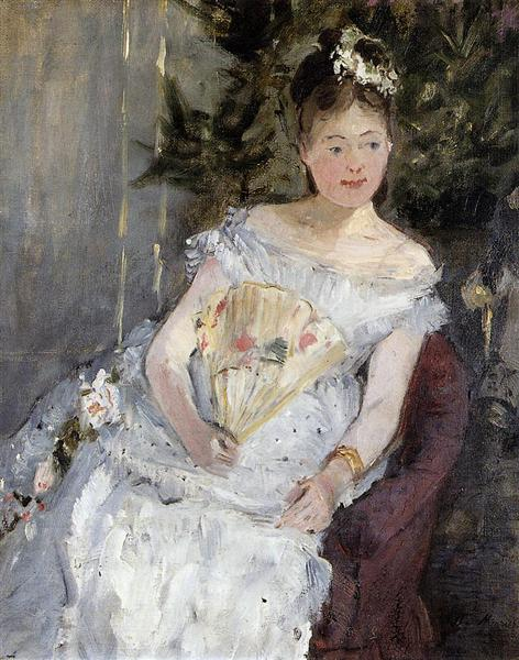 Portrait of Marguerite Carre (also known as Young Girl in a Ball Gown), 1873 - Berthe Morisot