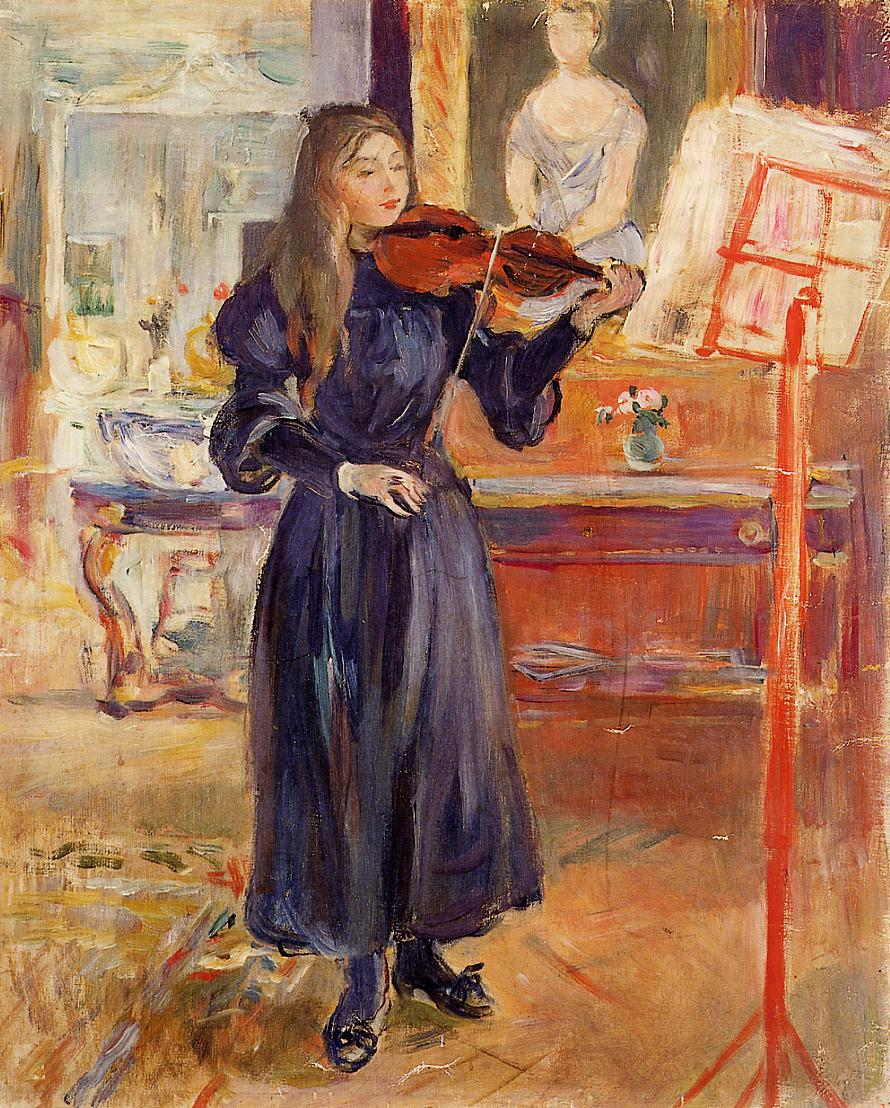 Studying the Violin, 1892 - 1893 - Berthe Morisot ...