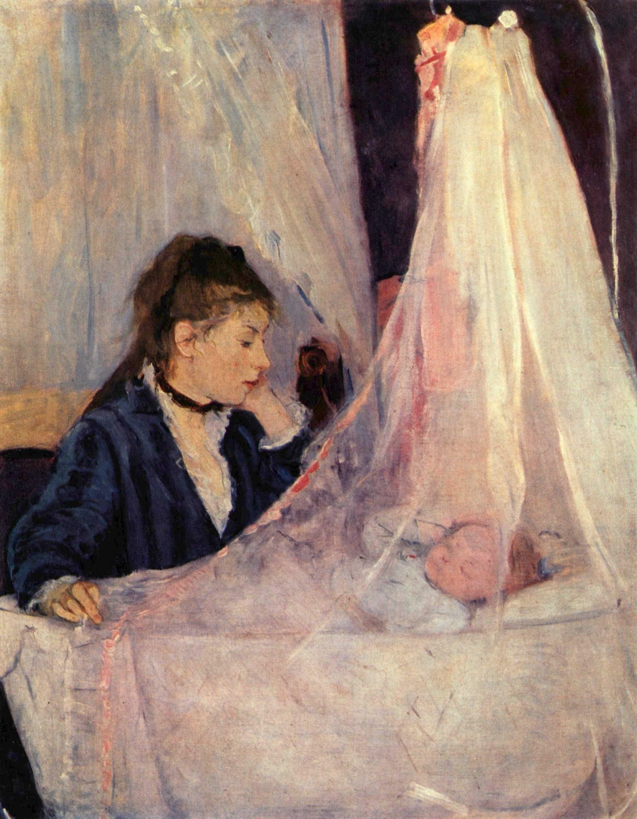 The Cradle, 1872 - Berthe Morisot - WikiArt.org