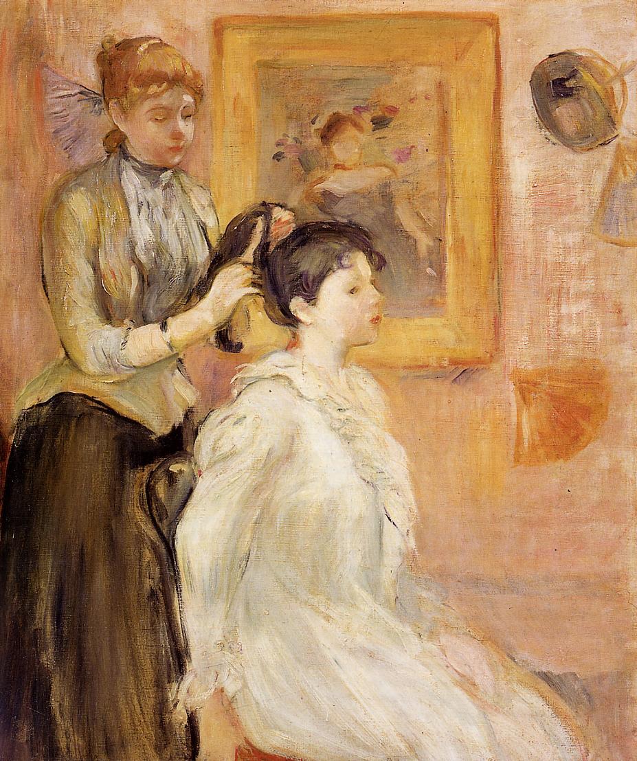 The Hairdresser, 1894 - Berthe Morisot - WikiArt.org