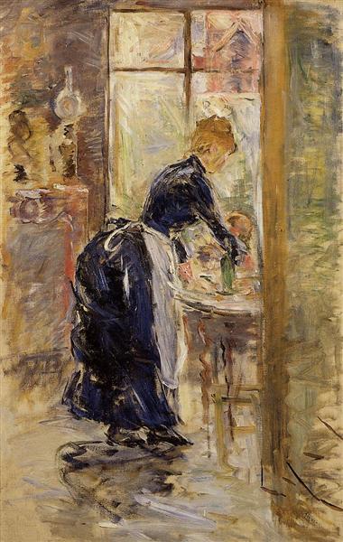 The Little Maid Servant, 1886 - Berthe Morisot