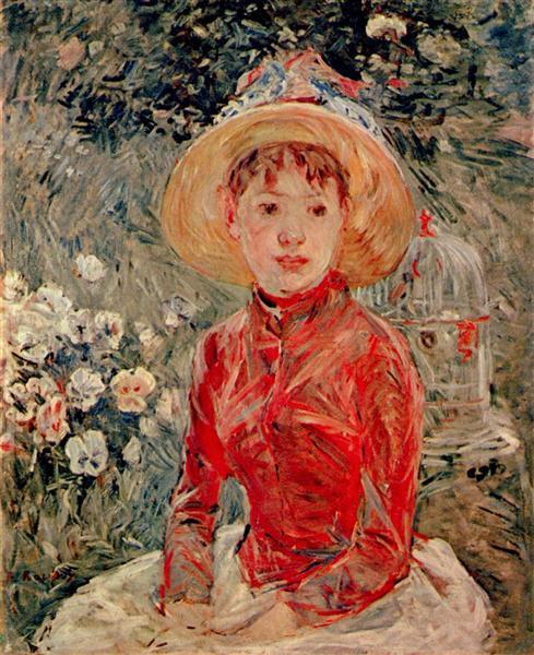 The red blouse, 1885 - Berthe Morisot