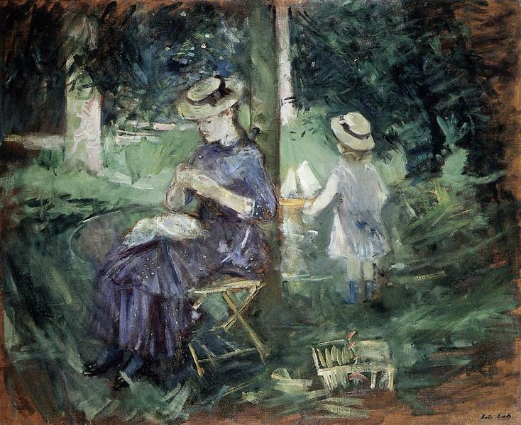 Woman and Child in a Garden, 1883 - 1884 - Berthe Morisot