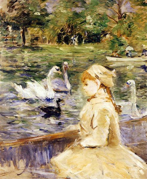 Young girl boating, 1884 - Berthe Morisot