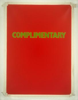 Complimentary, 1990 - Billy Apple