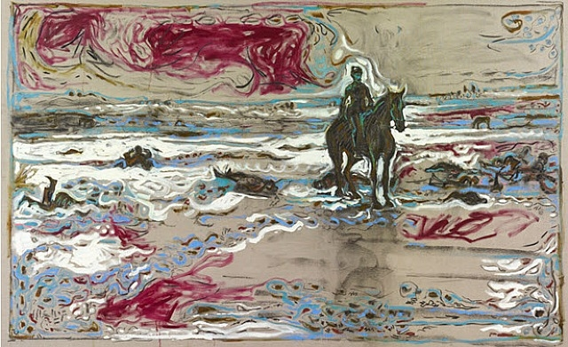 Lt. Sydney A. Cloman, First Infantry, on His Horse on the Wounded Knee Battleground, 2010 - Billy Childish