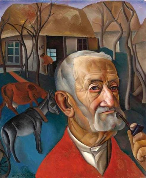 A Man with a Pipe, 1931 - Boris Dmitrijewitsch Grigorjew