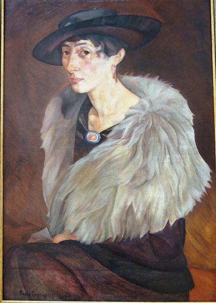 Portrait of Anna Grilikhes, 1917 - Boris Grigoriev