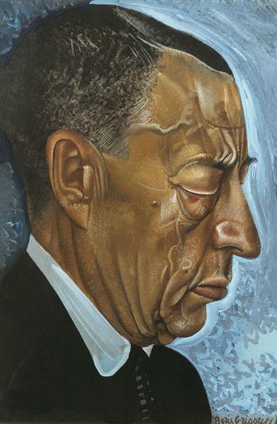 Portrait of Sergei Rachmaninoff - Borís Grigóriev