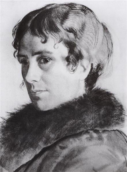 Portrait of Y.E. Kustodieva, 1925 - Boris Kustodiev
